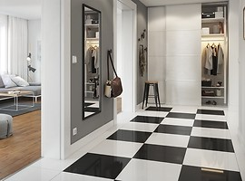 UNIVERSAL FLOORS POLER BLACK AND WHITE