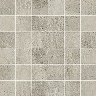 Grava Light Grey Mosaic Matt