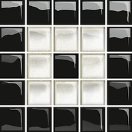 Glass White/Black Mosaic C New